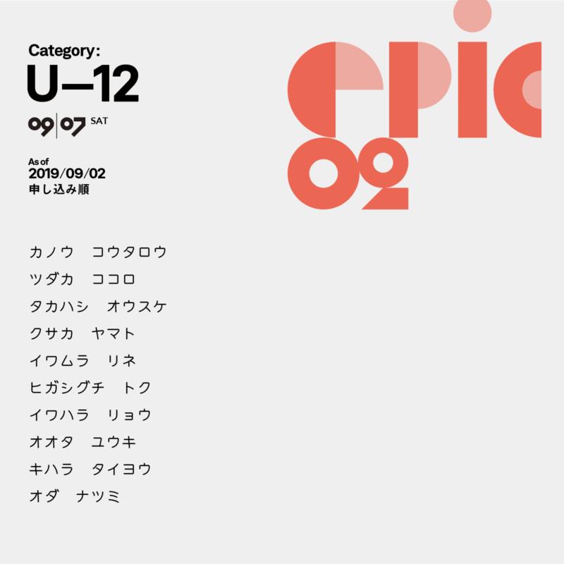 U-12参加者リスト
