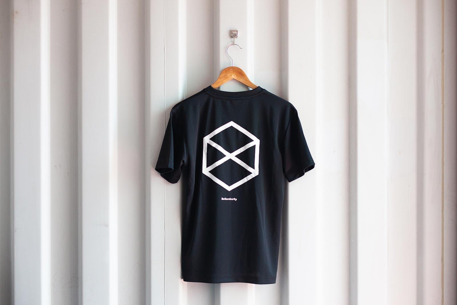 ミノリテロゴTシャツ/ブラック背面