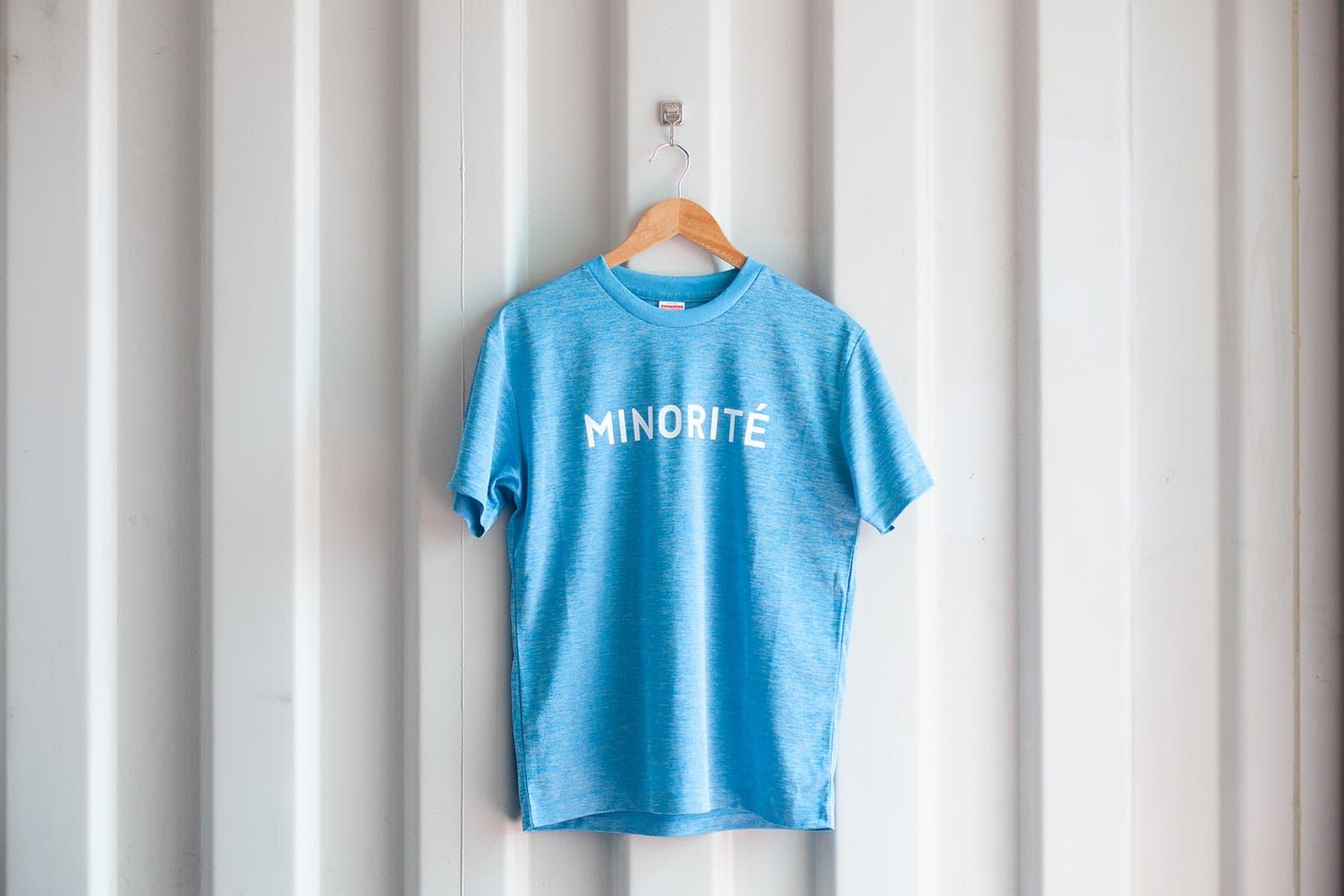 ミノリテロゴTシャツ/ヘザーブルー表