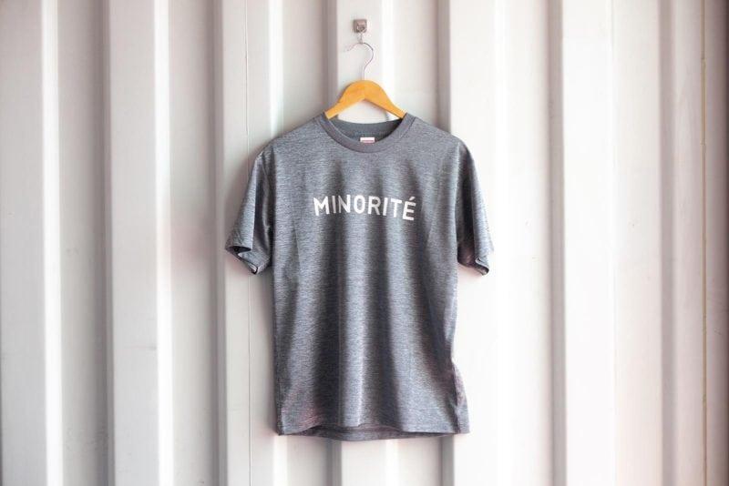 ミノリテロゴTシャツ/ヘザーチャコール表