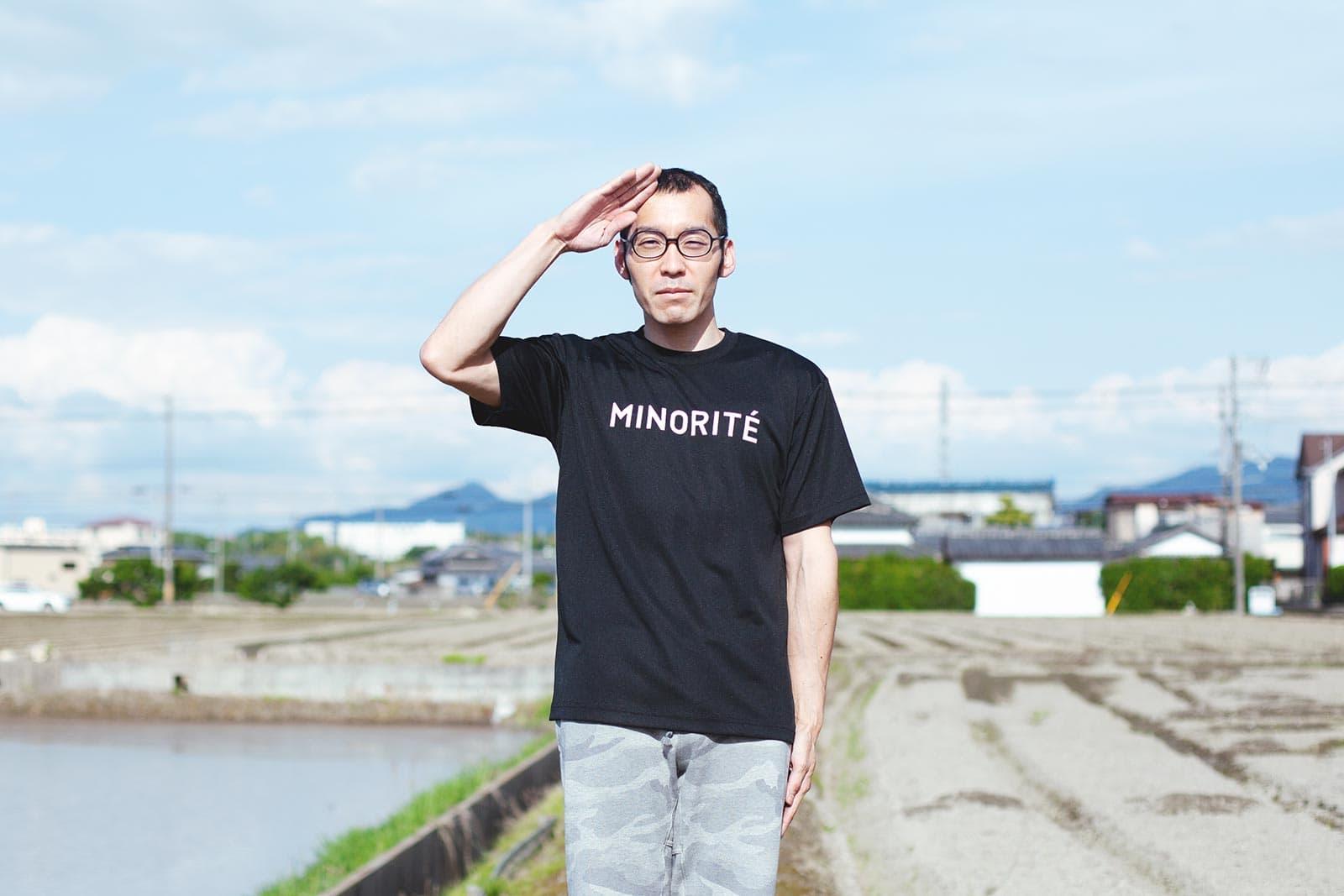 ミノリテロゴTシャツ/男性着用例