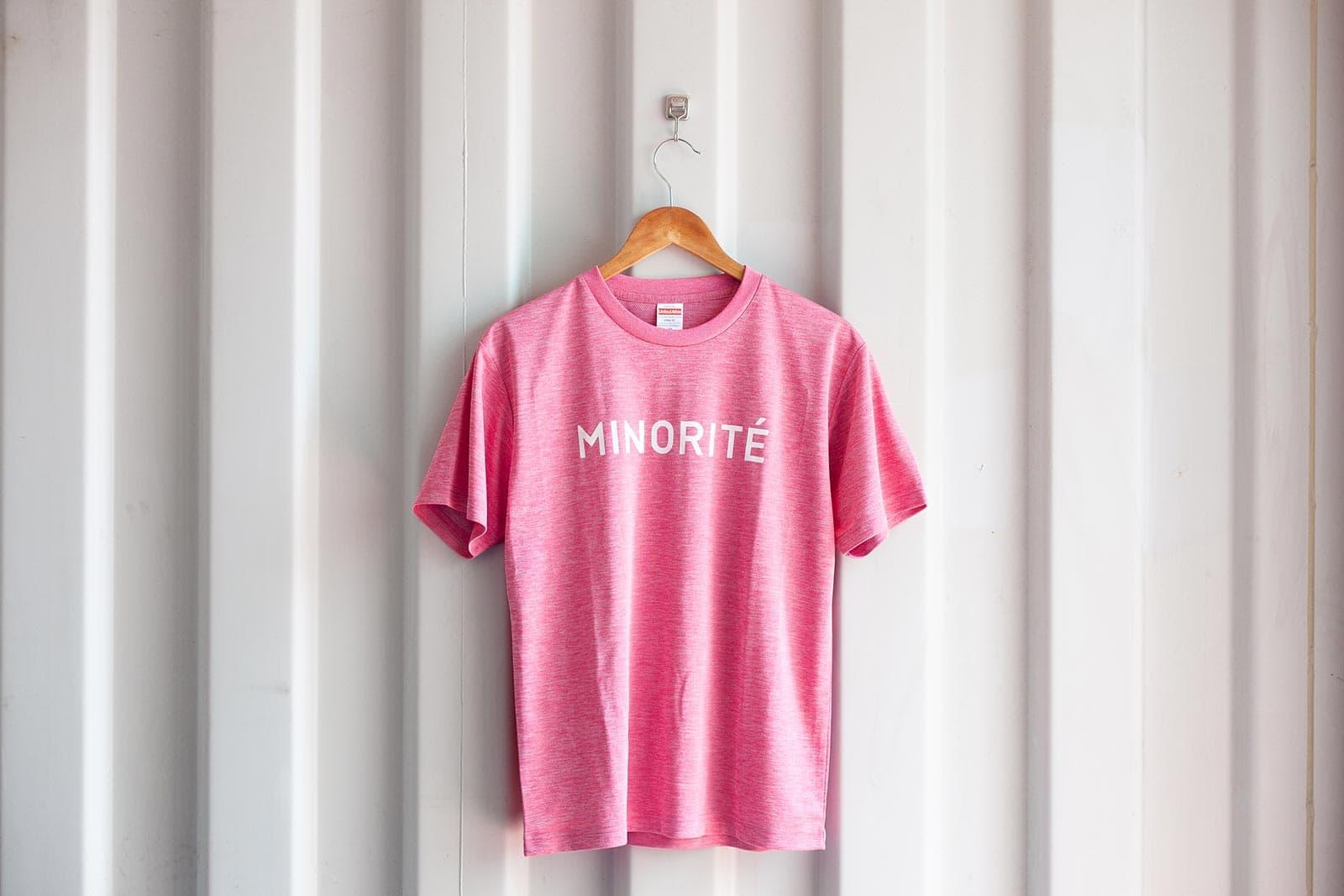 ミノリテロゴTシャツ/ヘザーピンク表